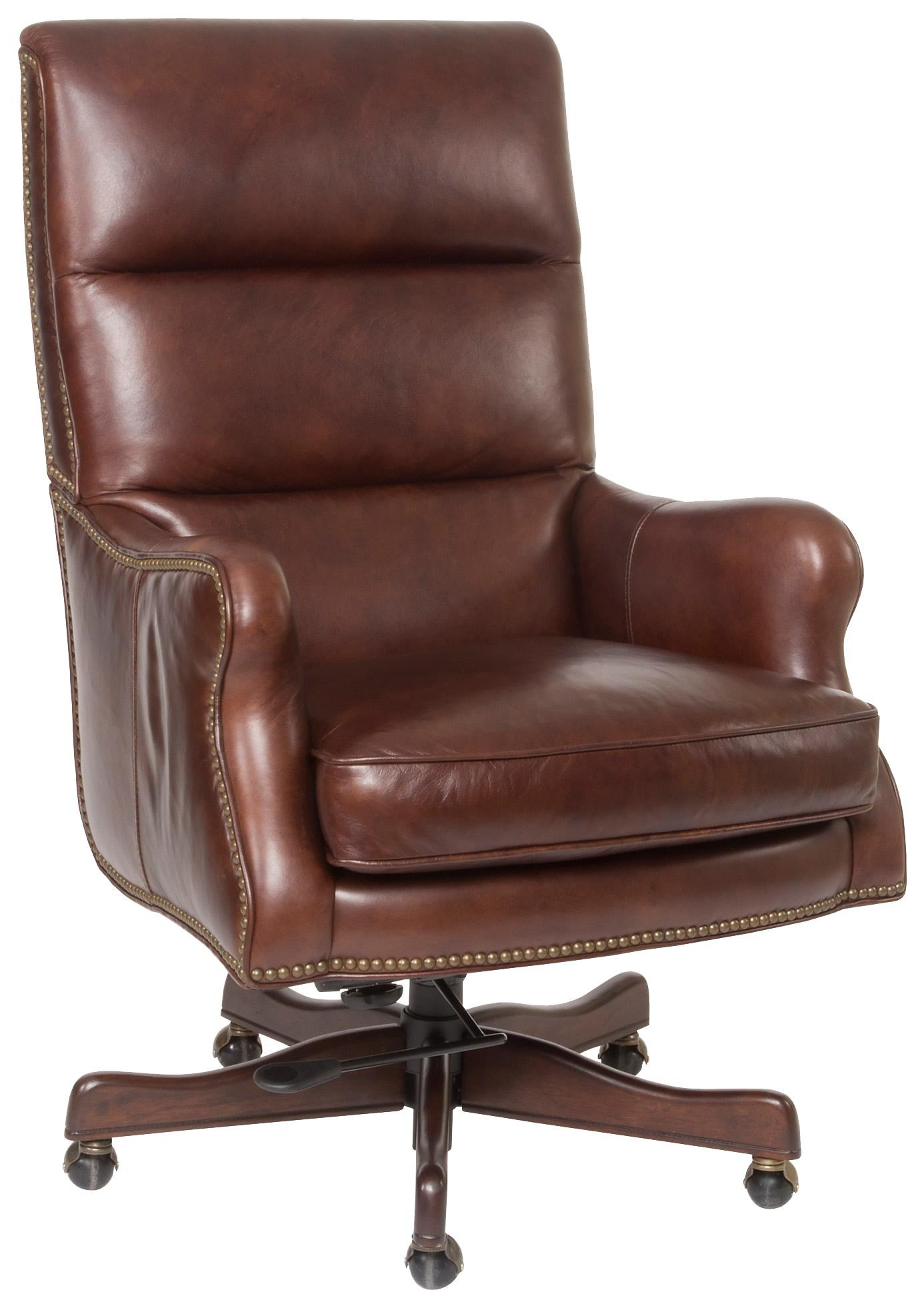 Etonnant Executive Seating Classic Styled Leather Desk Chair With Nail Head Trim By  Hooker Furniture