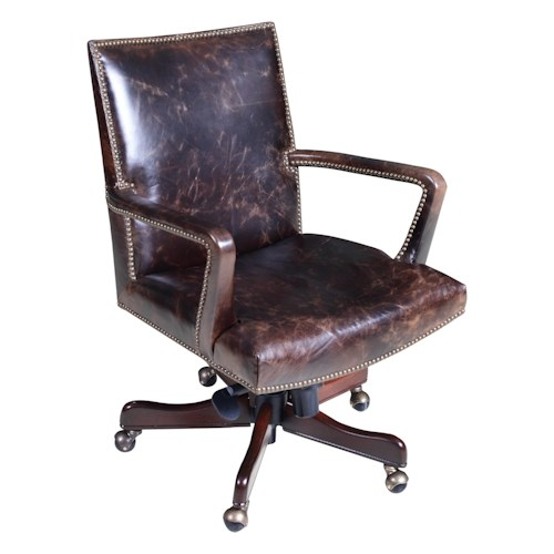 Hooker Furniture Executive Seating Classically-Styled Executive Chair with Swivel and Height Adjustment