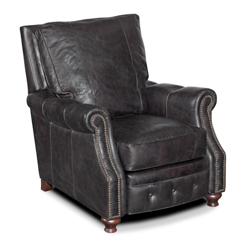 Hooker Furniture Reclining Chairs Traditional High Leg Reclining Chair with Tufted Recliner