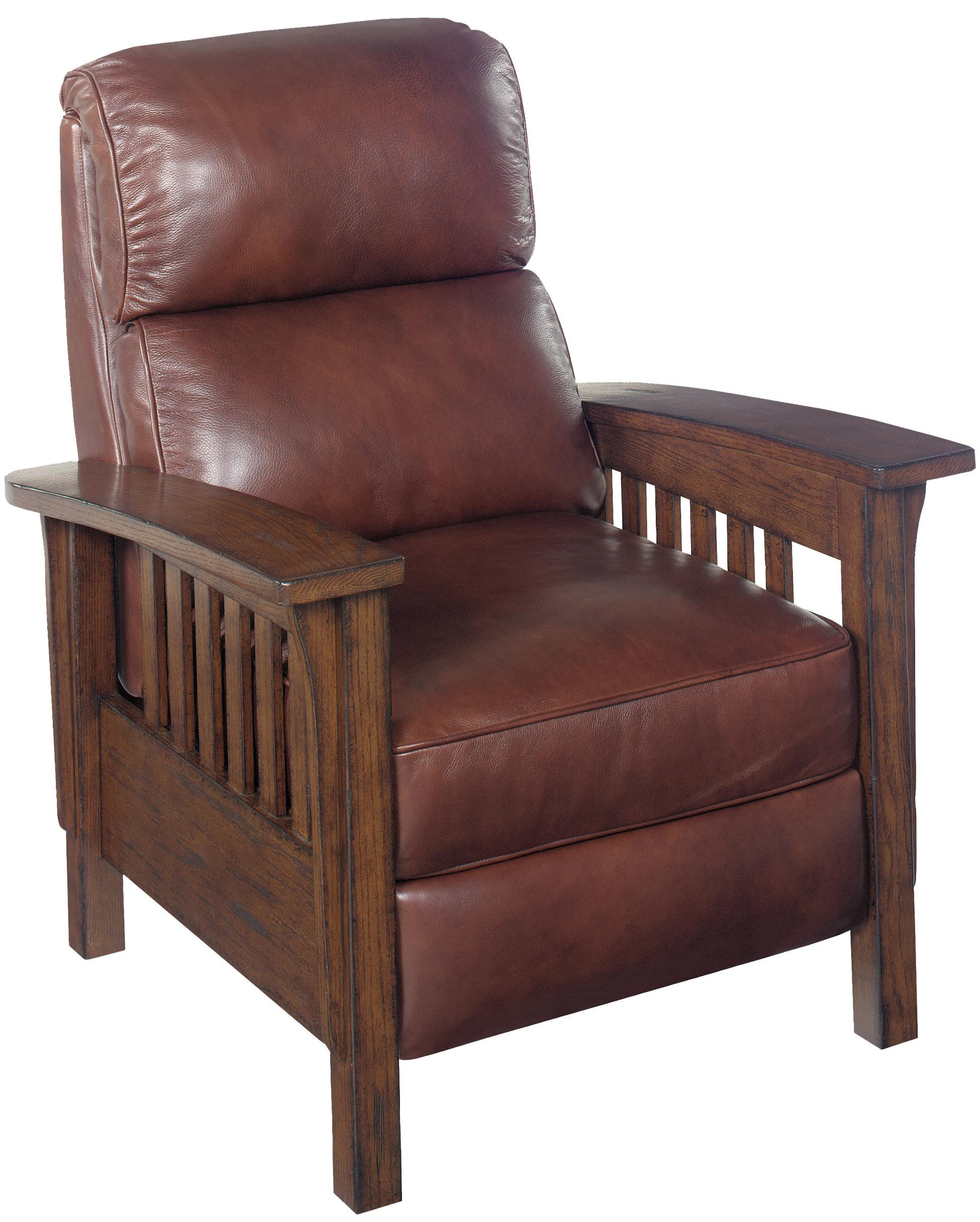 hooker furniture reclining chairs rc220089 mission high leg recliner - Mission Style Recliner