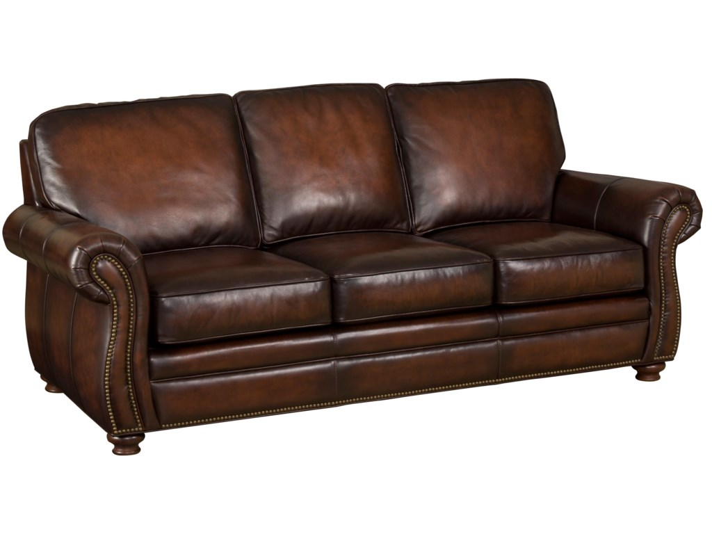 Hooker Furniture SS186Brown Leather Sofa