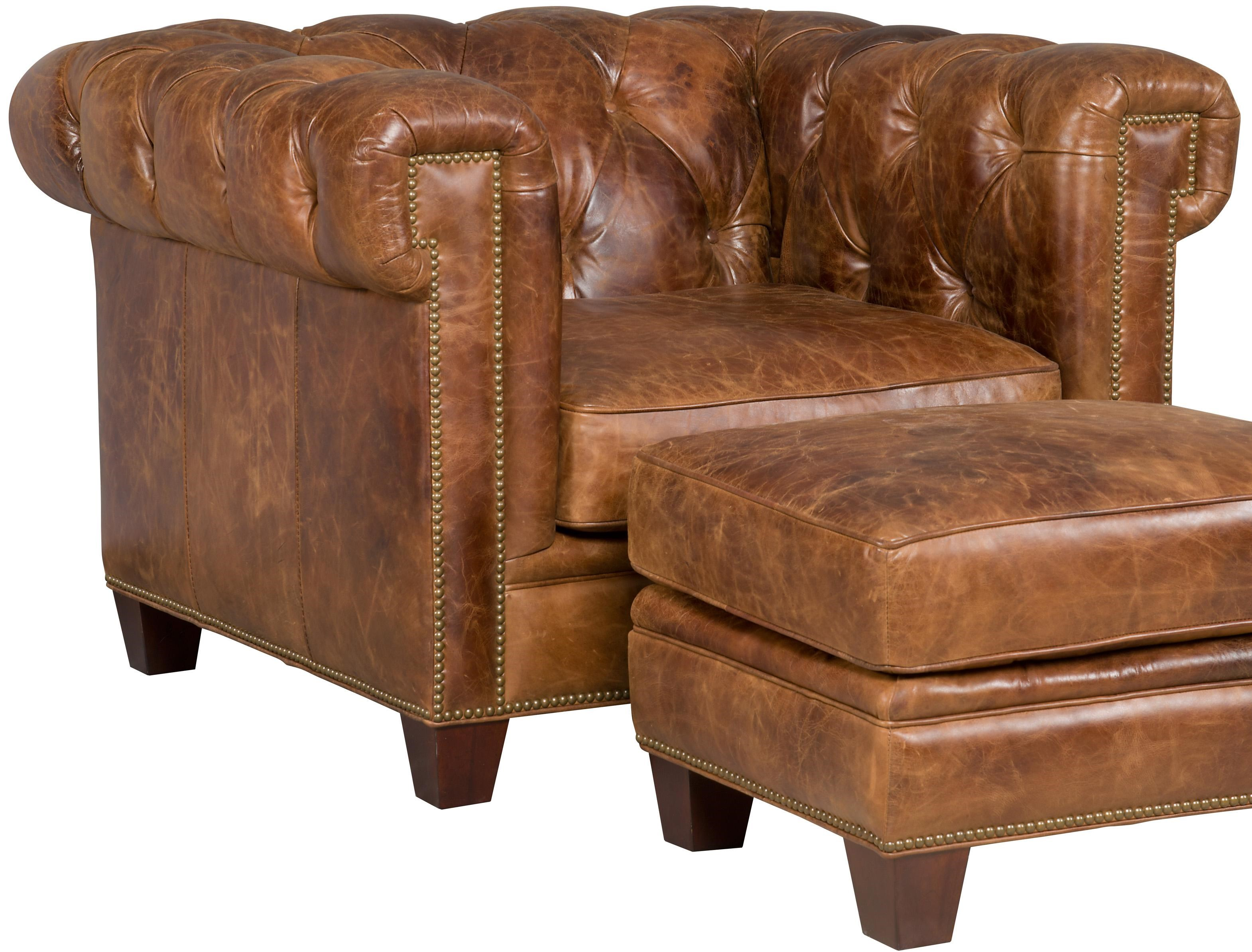 Charmant Hooker Furniture SS195 087 Transitional Chesterfield Chair With Track Arms  And Nailheads
