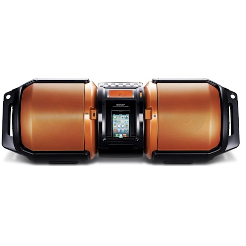 Sharp Electronics Shelf Stereo Systems High-Power Portable Audio System with Dual Subwoofers and iPod® Connection