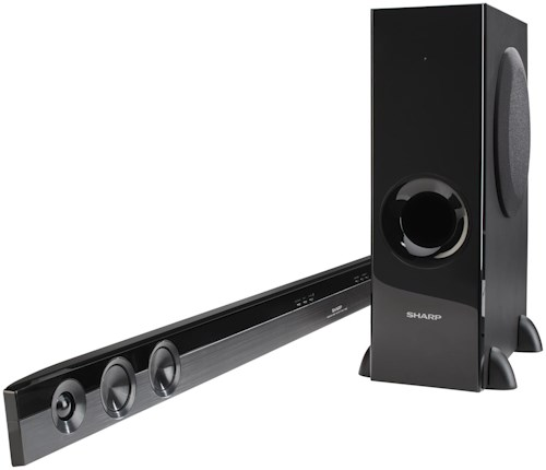 Sharp Electronics Shelf Stereo Systems 2.1-channel, 310-watt Sound Bar with Bluetooth One Touch Pairing