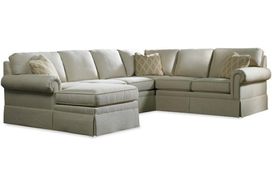 Sherrill 3085 Skirted Six Piece Sectional Sofa with LAF ...