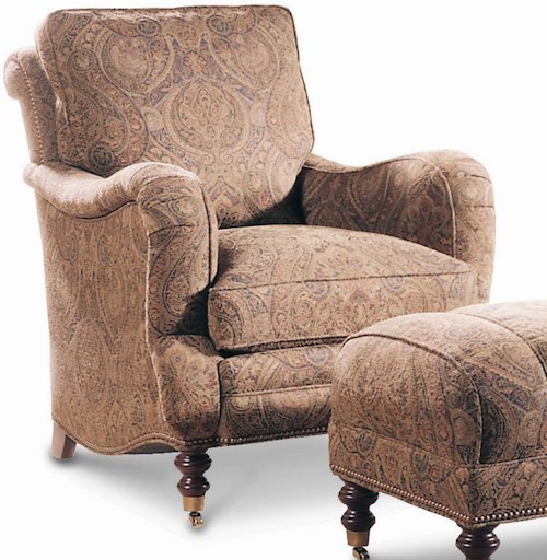 Sherrill Casual Semi-Attached Back Lounge Chair with Casters