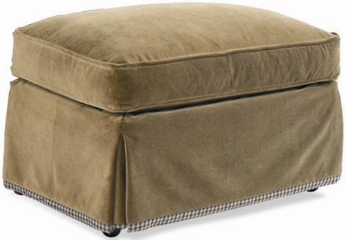 Sherrill Dan Carithers Ottoman with Skirt