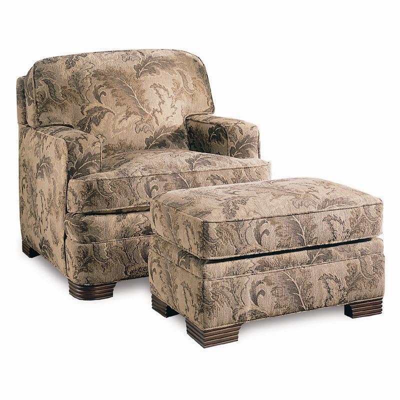 Sherrill Design Your OwnOttoman; Sherrill Design Your OwnOttoman Shown With  Coordinating Chair