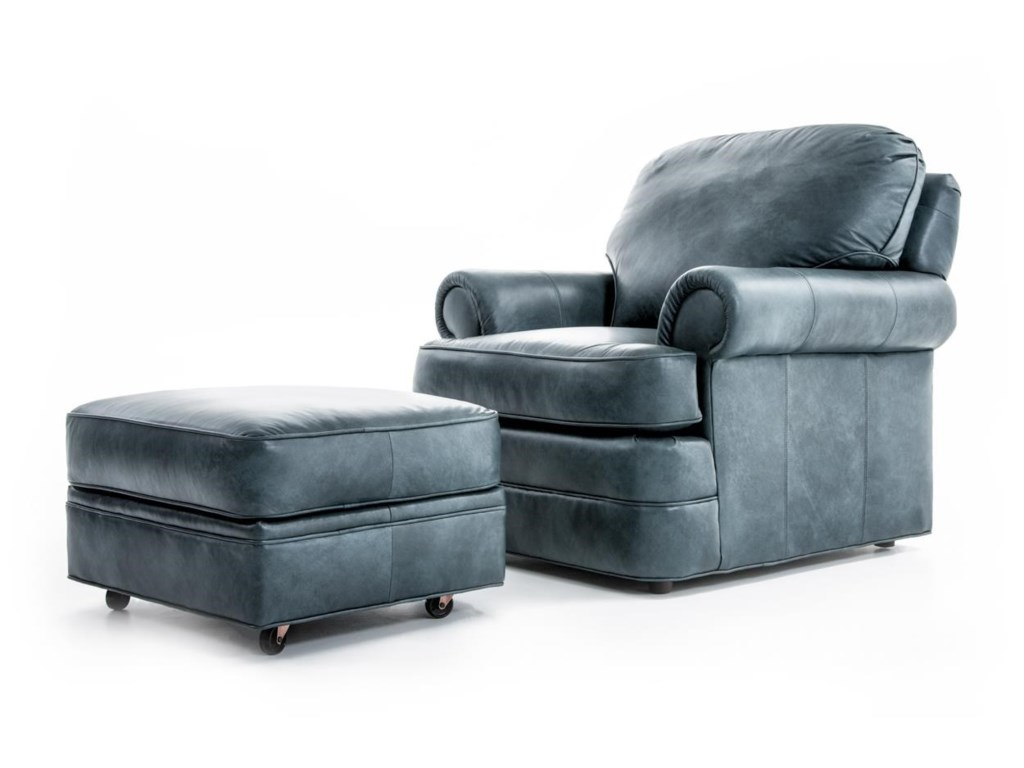 Sherrill Design Your OwnCustomizable Chair and Ottoman Set