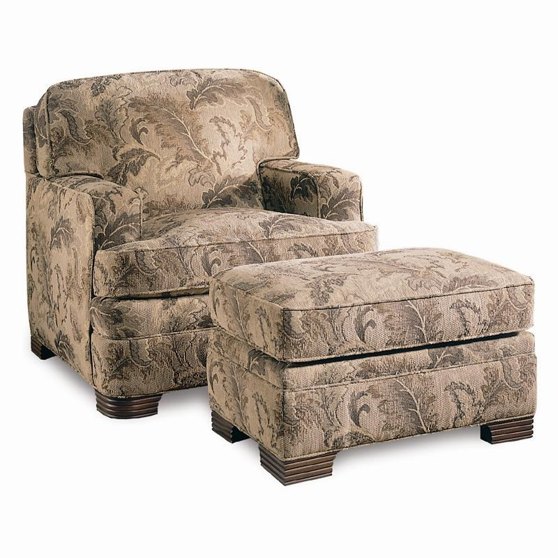 Sherrill Design Your Own Upholstered Chair With Track Arms U0026 Ottoman