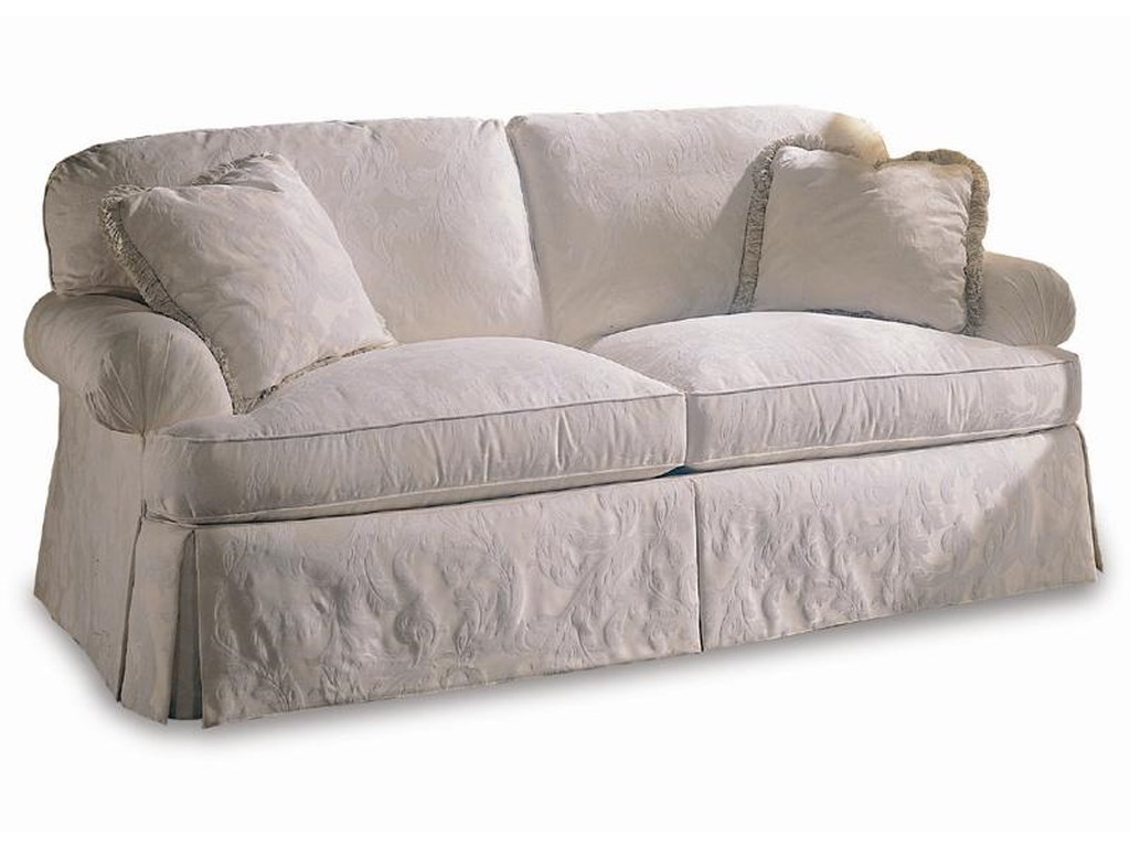 Sherrill Design Your Own Sofa With Pleated Rolled Arms And Loose Pillow Back
