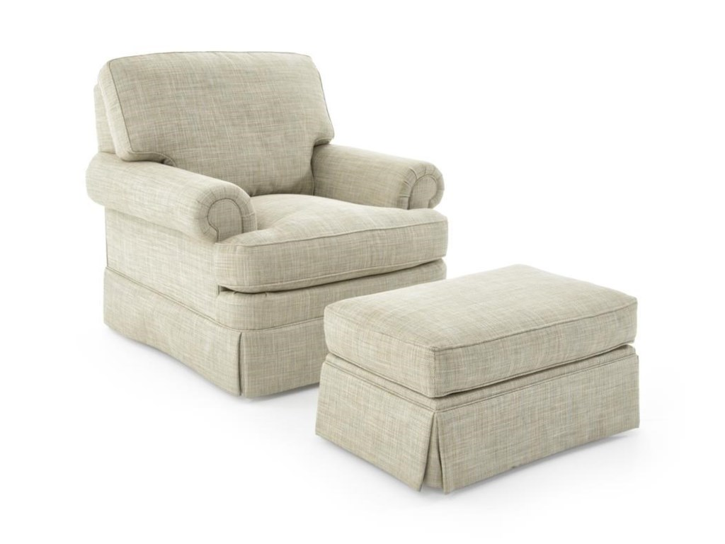 Sherrill Design Your OwnChair and Ottoman Set