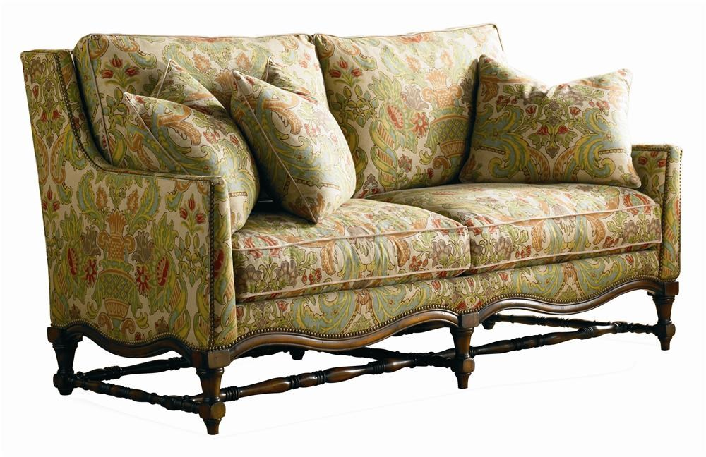 Sherrill Masterpiece William And Mary Style Sofa With Carved Wood And  Nailhead Trim