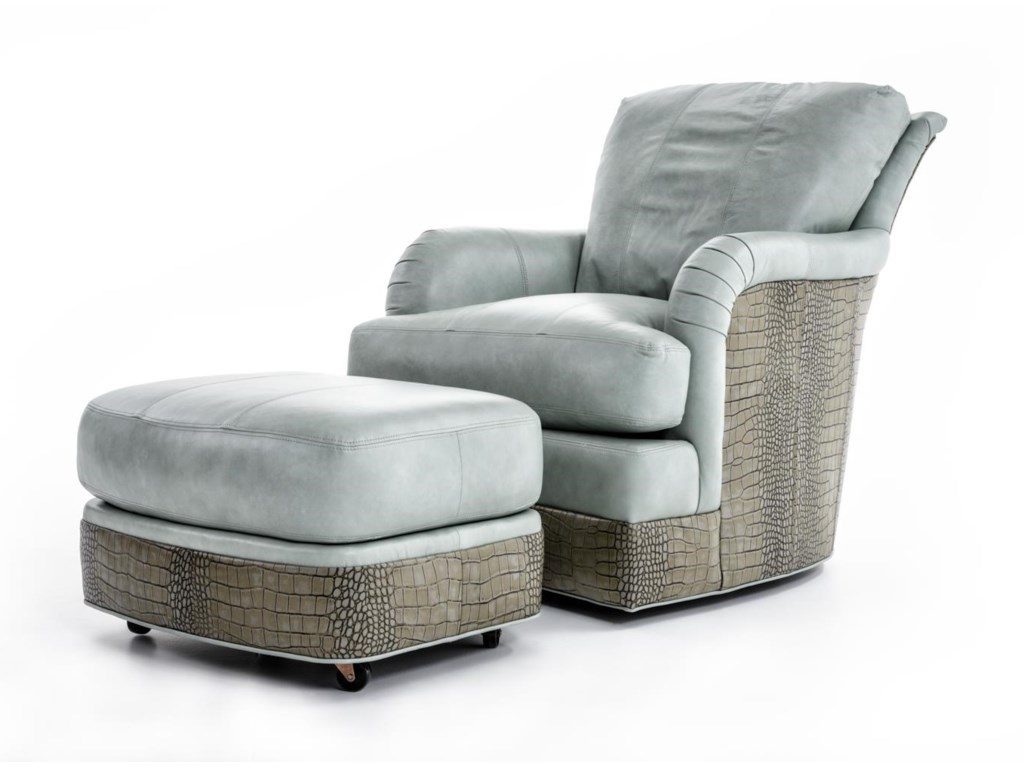 Whittemore-Sherrill SW1997Swivel Chair and Ottoman Set