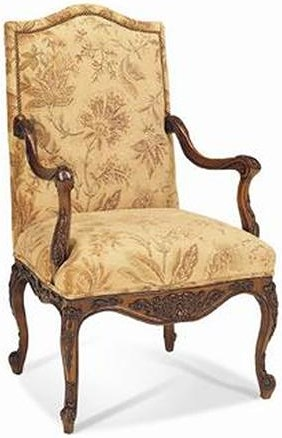 Sherrill Traditional English Tudor Carved Arm Chair