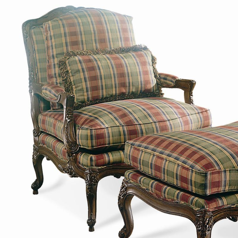 Sherrill Traditional 1189 Louis XV Carved Bergere Arm Chair