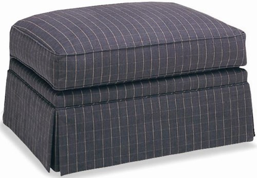 Sherrill Traditional Ottoman with Skirt