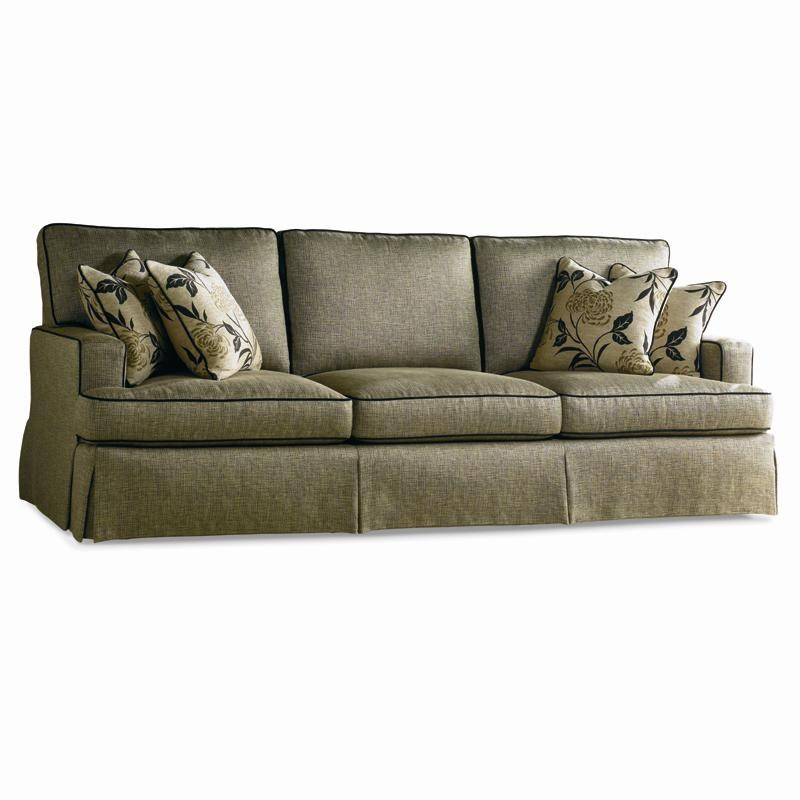 Sherrill Traditional Loose Back Cushion Sofa With Track Arms