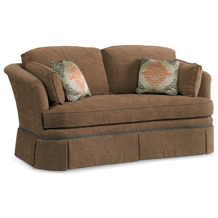 Attirant Sherrill Traditional Loose Back Cushion Sofa With Skirt