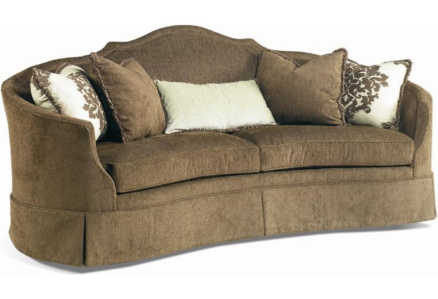 Crescent Front Sofa With Skirt