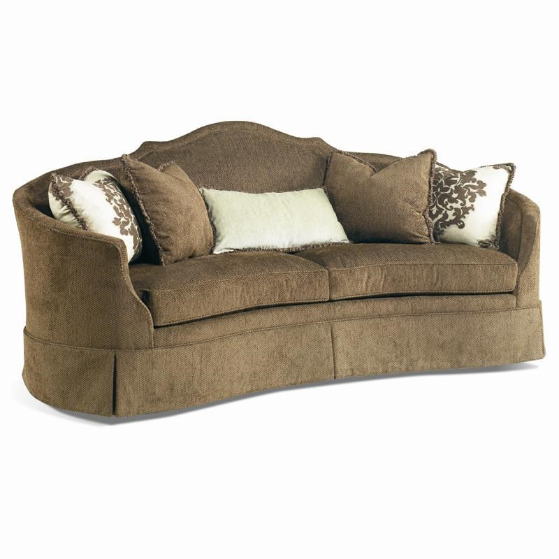 Sherrill Traditional 2226 Crescent Front Sofa With Skirt