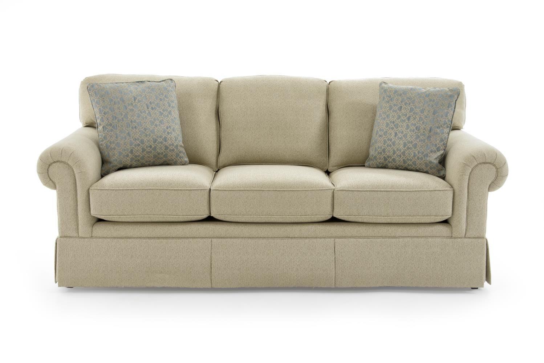 Sherrill Traditional 3061 3 ADA CREAM GR9 Lawson Sofa With Semi Attached  Back | Baeru0027s Furniture | Sofas