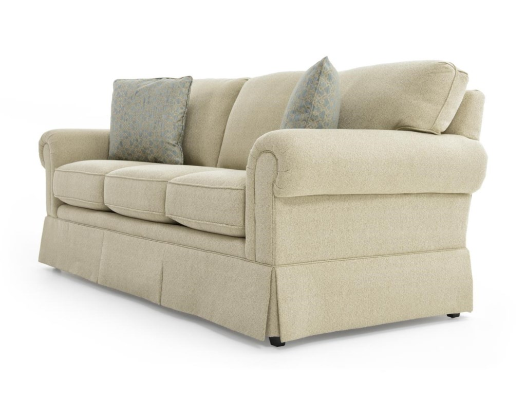 Sherrill Traditional 101682993 Lawson Sofa With Semi Attached Back
