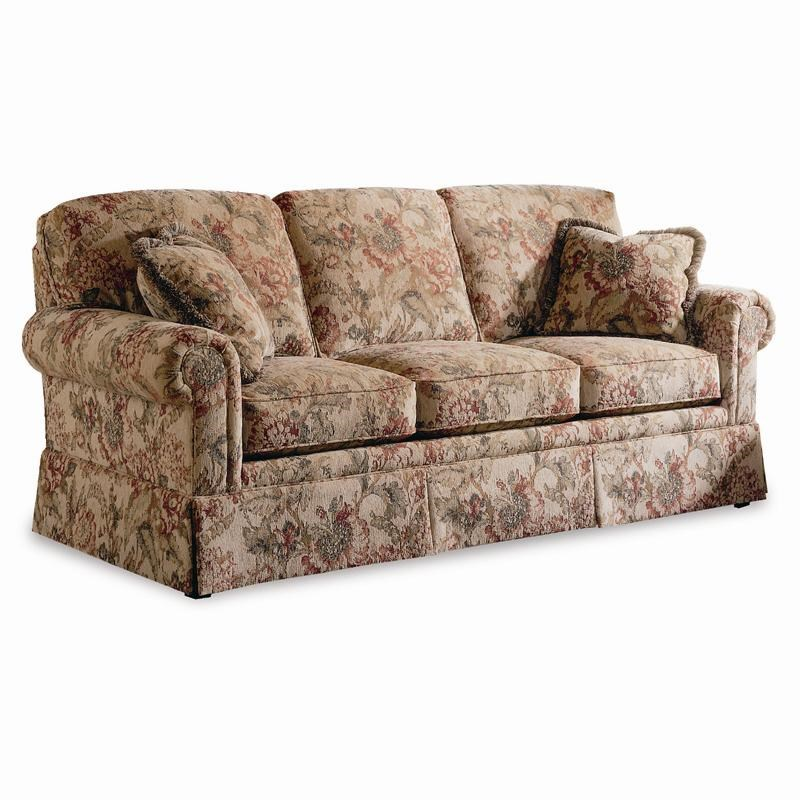 Sherrill Traditional Lawson Sofa With Semi Attached Back