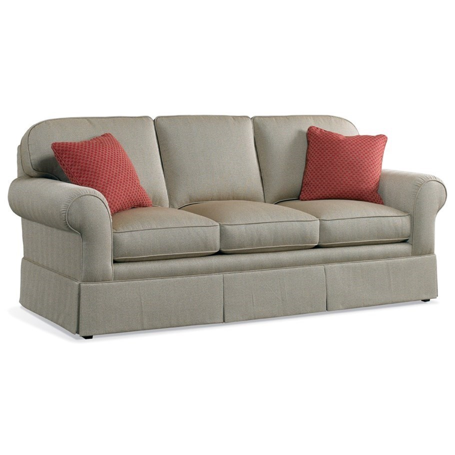 Superieur Sherrill Traditional Sofa With Rolled Arms And Skirt