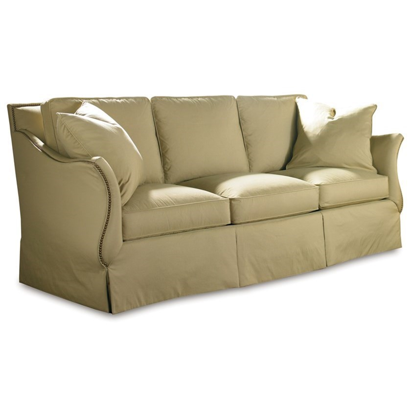 Traditional Sofa with Flared Arms
