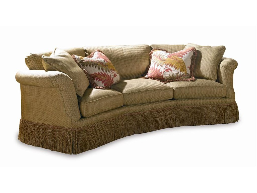 Furniture Conversation Sofas Sherrill Traditional Upholstered Sofa Traditionalupholstered