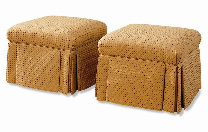 Shown as a pair of two ottomans