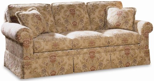 Sherrill Traditional Sleep Sofa with Loose Back Cushions and Rolled Arms