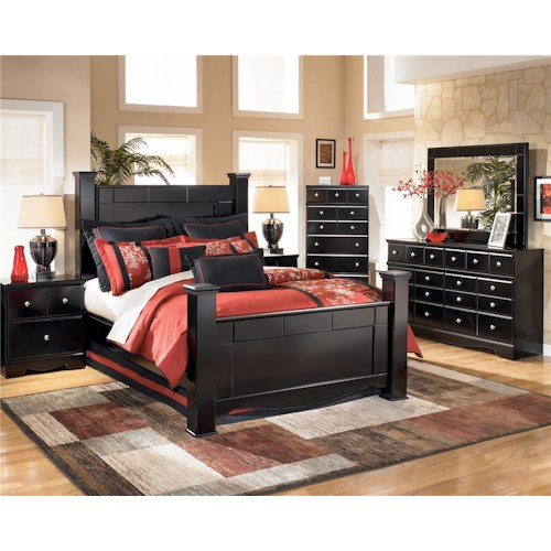 Signature Design by Ashley Shay 4pc queen bedroom (Queen Bed, dresser, mirror and nightstand) CHEST SOLD SEPARATE
