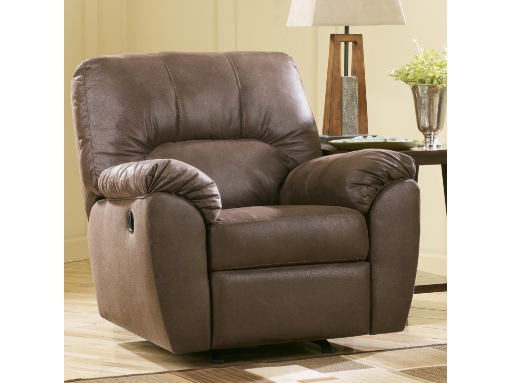 Ashley (Signature Design) Amazon - WalnutRocker Recliner
