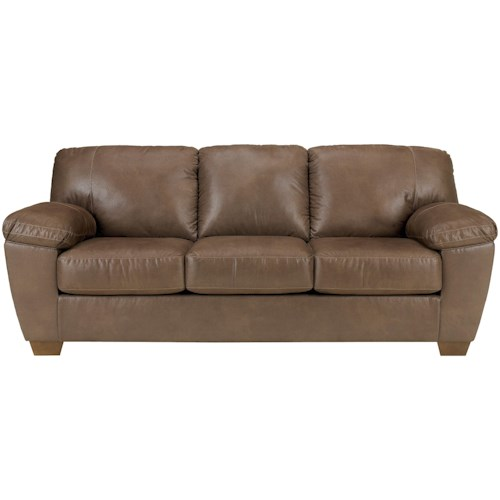 Signature Design by Ashley Amazon - Walnut Sofa with Pillow Arms