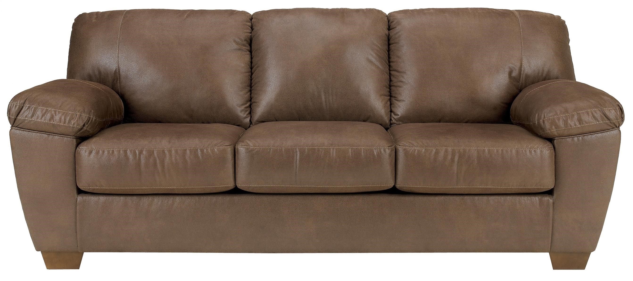 Signature Design By Ashley Amazon   Walnut Sofa With Pillow Arms   Becker  Furniture World   Sofa