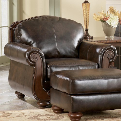 Signature Design by Ashley Barcelona - Antique Traditional Chair