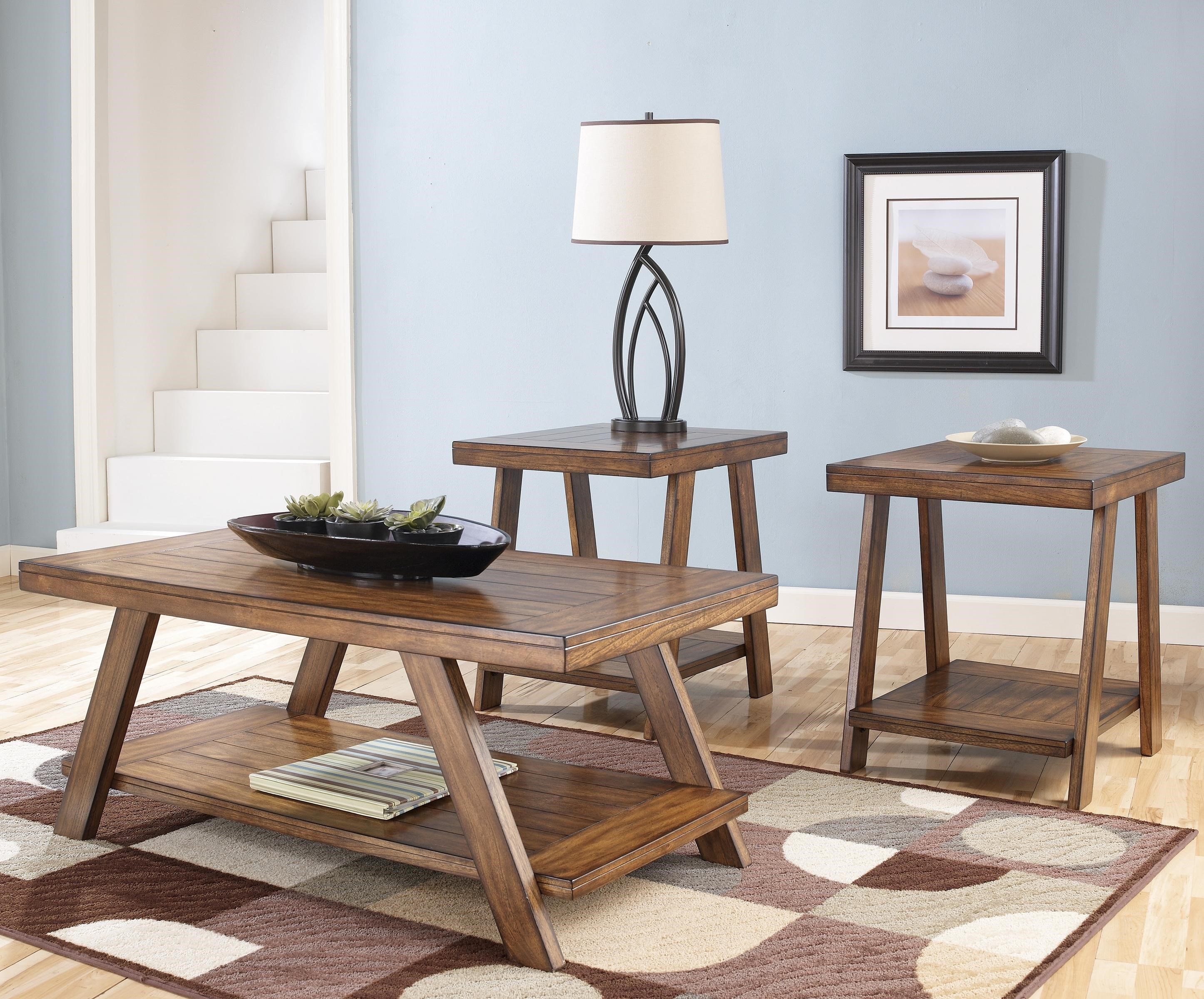 3-in-1 Pack Occasional Tables w/ Cocktail Table and 2 End Tables