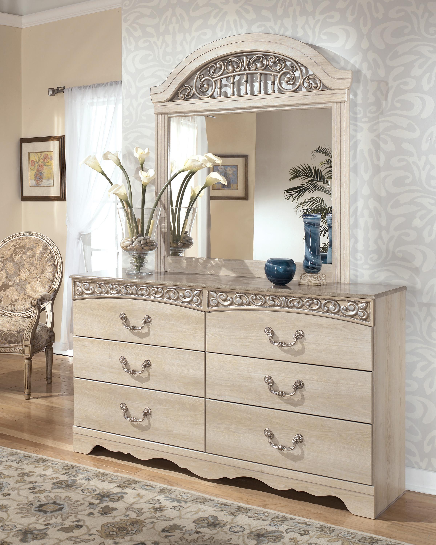 Bon Signature Design By Ashley CatalinaDresser With Mirror ...