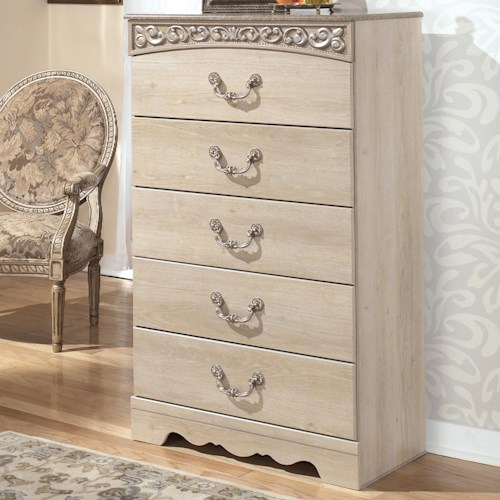 Signature Design by Ashley Catalina Five-Drawer Chest