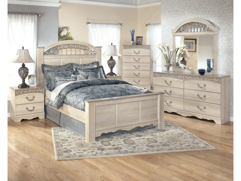 Shown with Nightstand, Chest, and Dresser with Mirror