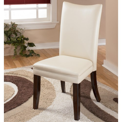 Signature Design by Ashley Charrell Ivory Upholstered Dining Side Chair