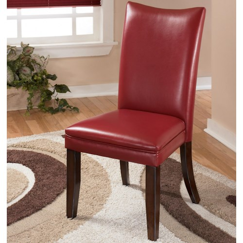 Signature Design by Ashley Charrell Red Upholstered Dining Side Chair