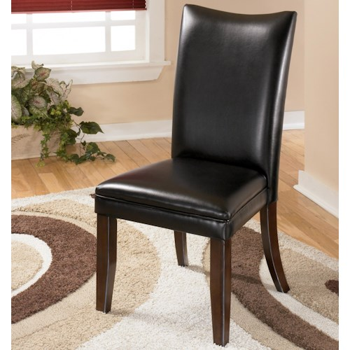 Signature Design by Ashley Charrell Black Upholstered Dining Side Chair