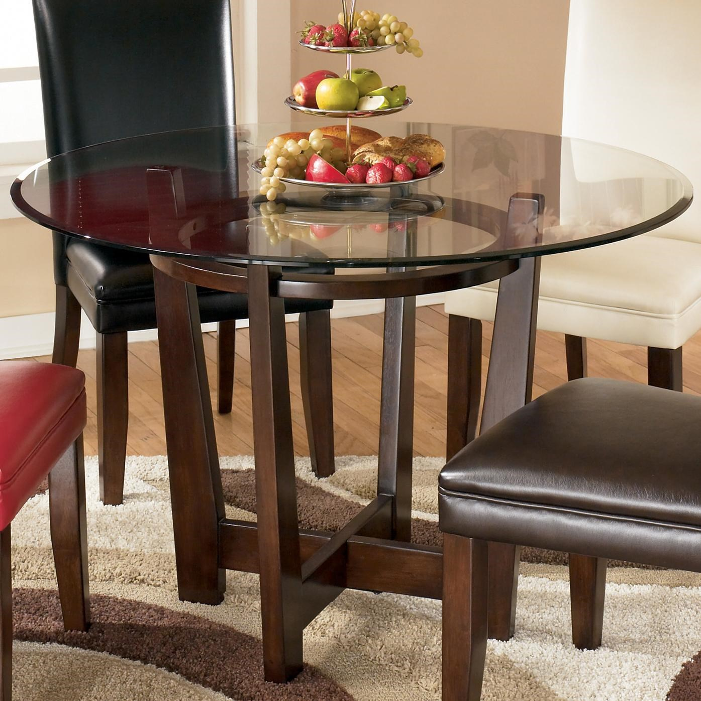Glass Top Tables And Chairs signature designashley charrell round glass top table