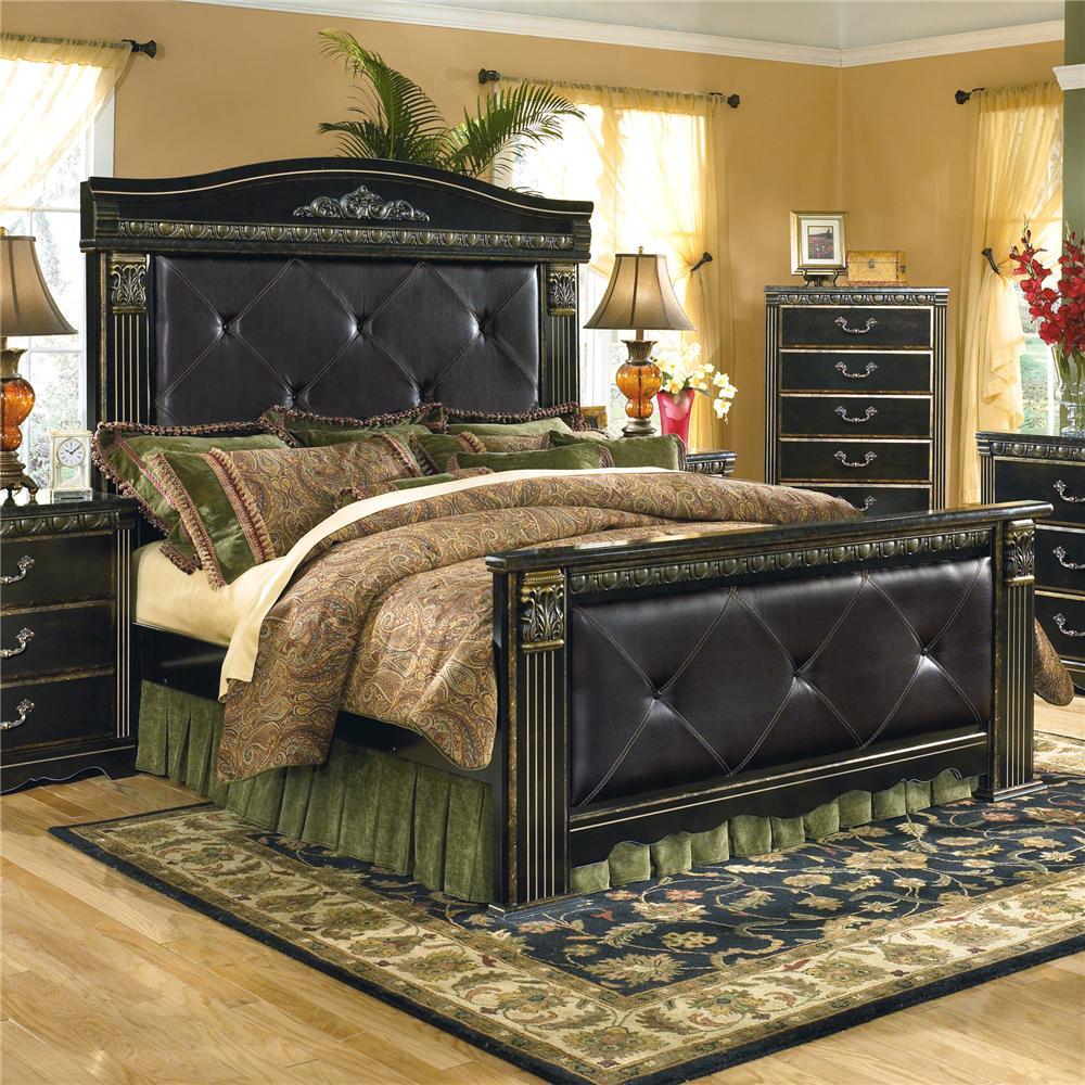 Signature Design By Ashley Coal Creek B175 56+58+61+99 Upholstered King  Mansion Bed   Del Sol Furniture   Upholstered Bed