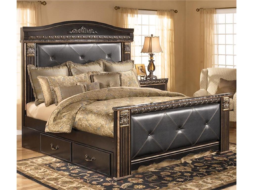 King bedroom sets ashley furniture - Signature Design By Ashley Coal Creek King Upholstered Mansion Bed With Storage