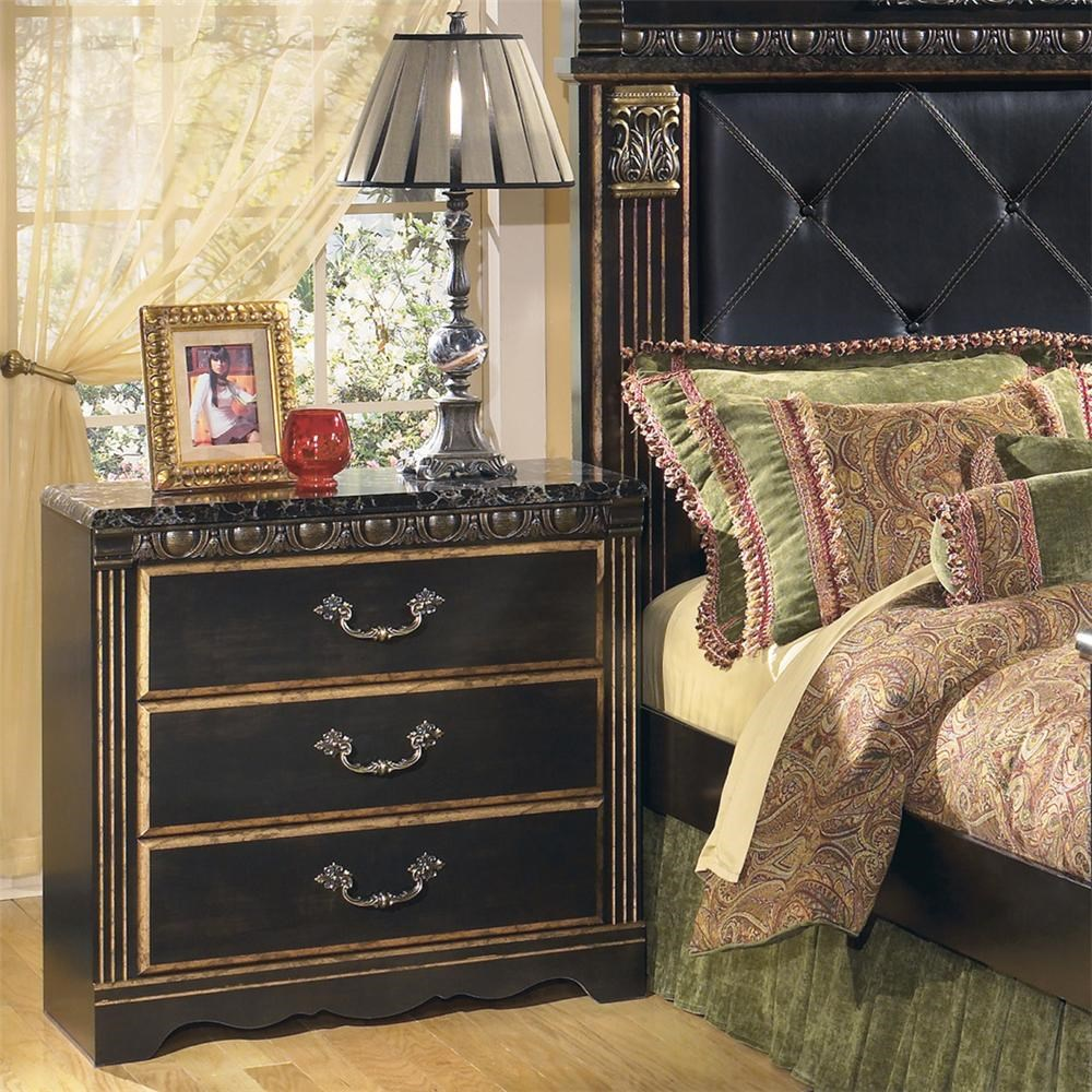 Superieur Signature Design By Ashley Coal Creek 3 Drawer Night Stand With Faux Marble  Top