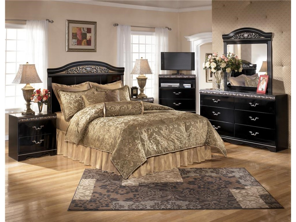 Shown with Nightstand, Bed, TV Chest & Dresser